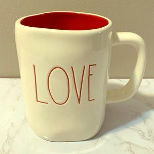 Rae Dunn Love Mug w/ red inside